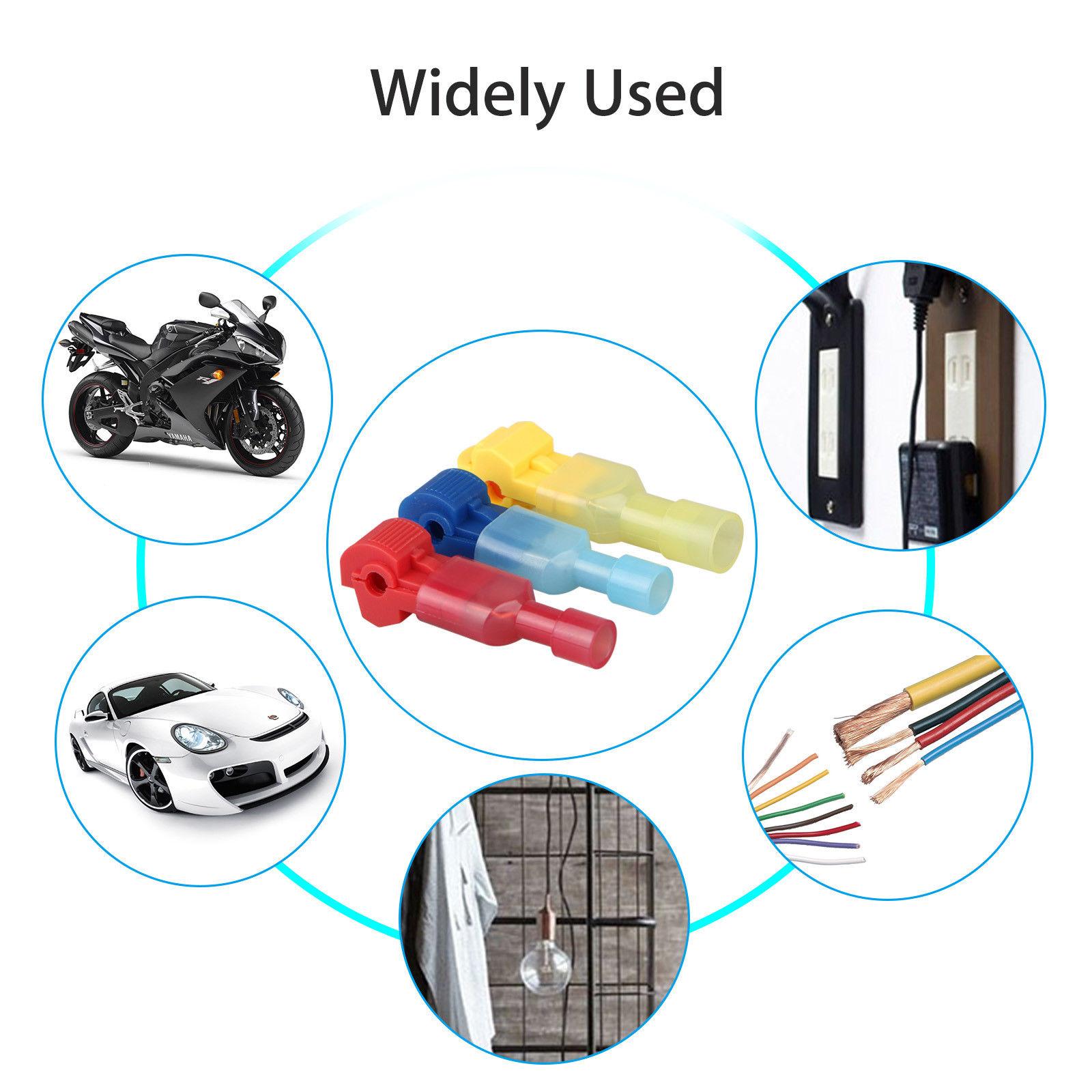 60pcs quick lock splice wire connector terminal crimp clip. Black Bedroom Furniture Sets. Home Design Ideas