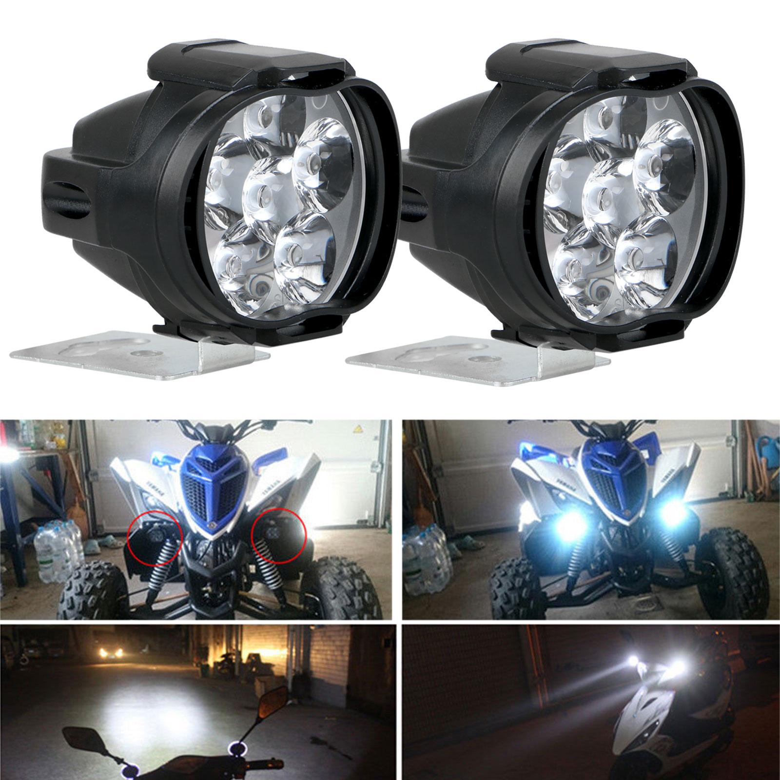 2Pcs-Universal-Car-SUV-Motorcycle-LED-Waterproof-Lights-Fog-Light-Headlight-Lamp thumbnail 10