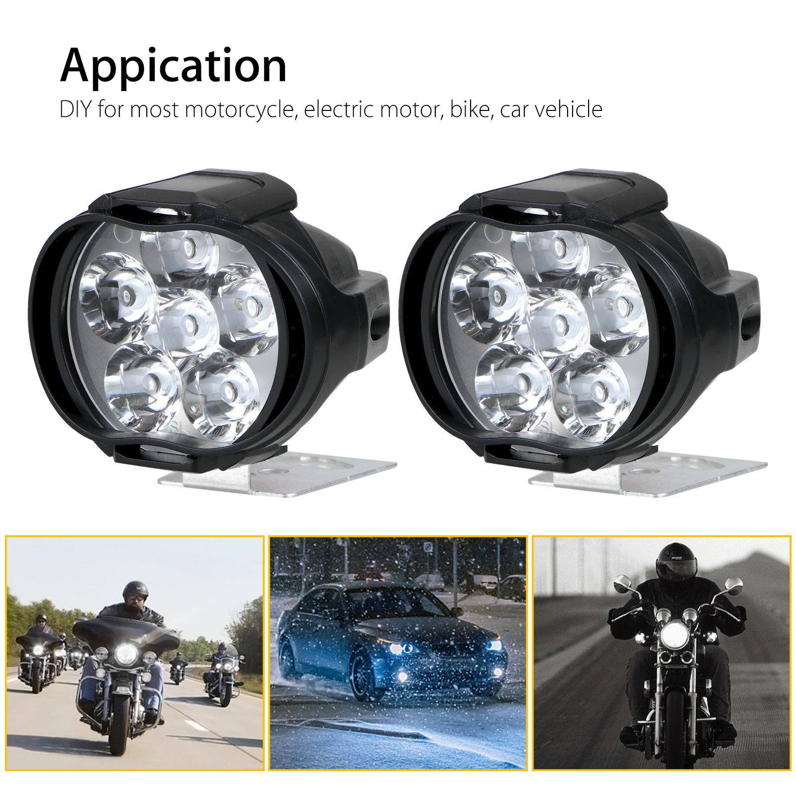 2Pcs-Universal-Car-SUV-Motorcycle-LED-Waterproof-Lights-Fog-Light-Headlight-Lamp thumbnail 6