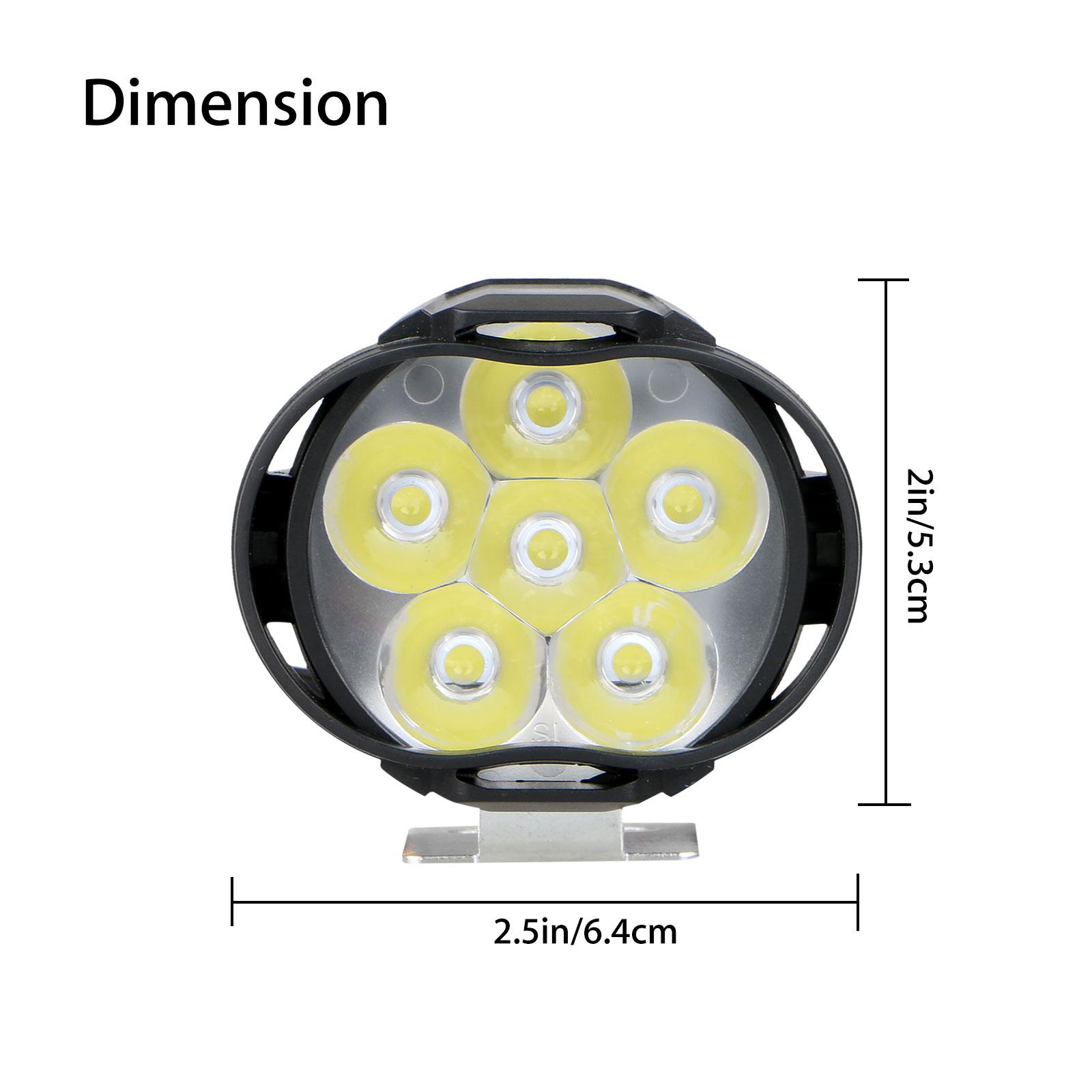 2Pcs-Universal-Car-SUV-Motorcycle-LED-Waterproof-Lights-Fog-Light-Headlight-Lamp thumbnail 7