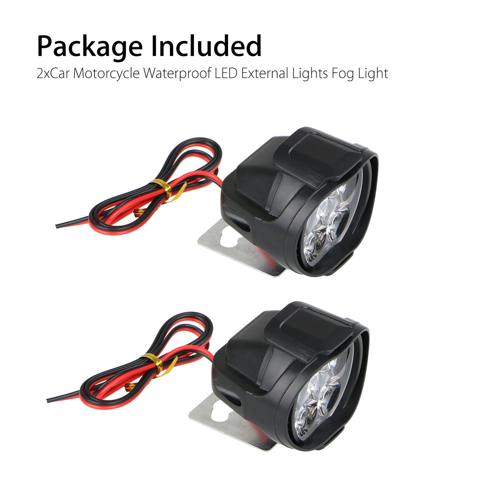 2Pcs-Universal-Car-SUV-Motorcycle-LED-Waterproof-Lights-Fog-Light-Headlight-Lamp thumbnail 8