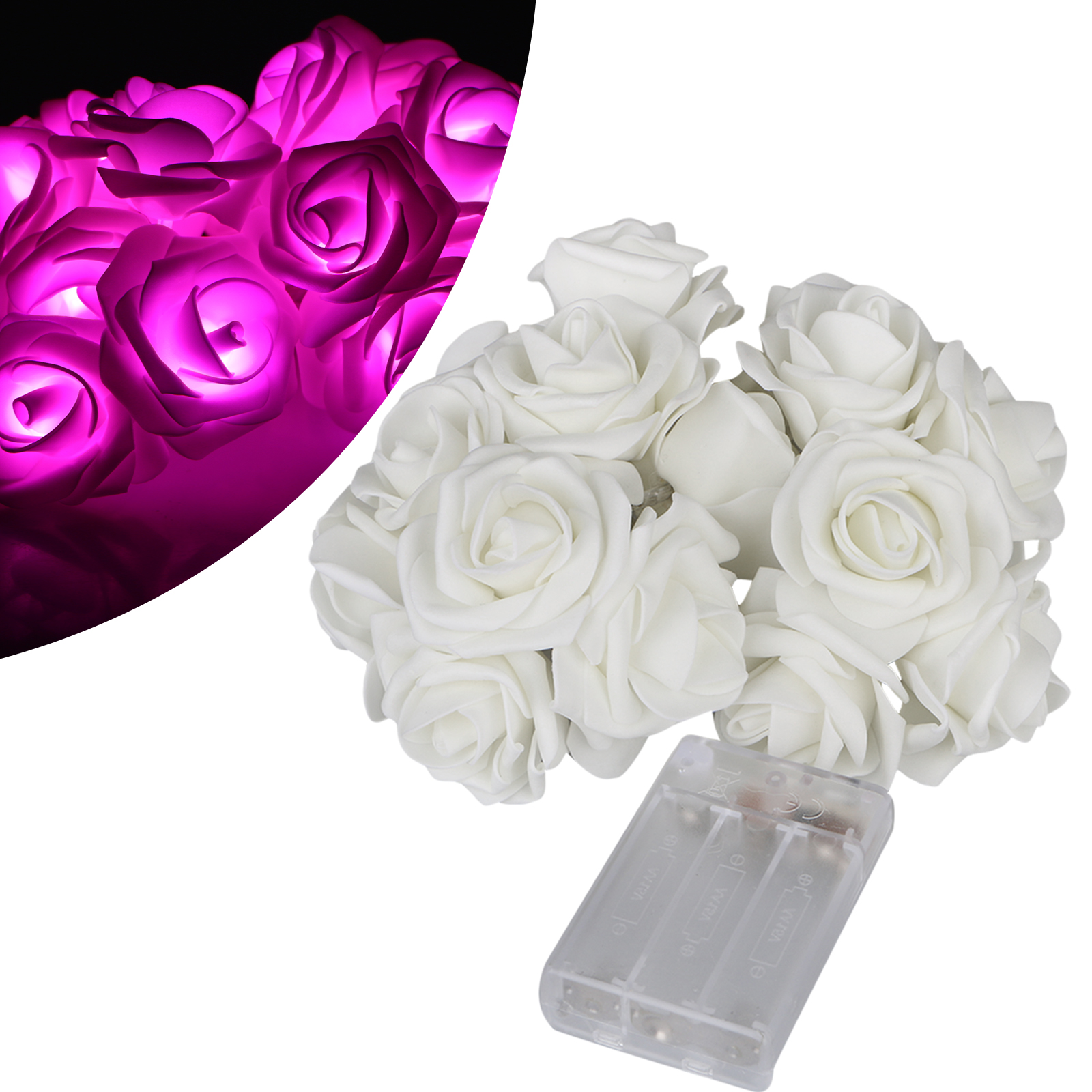 20 Led Rose Flower Fairy Wedding Garden Party Christmas Decor String