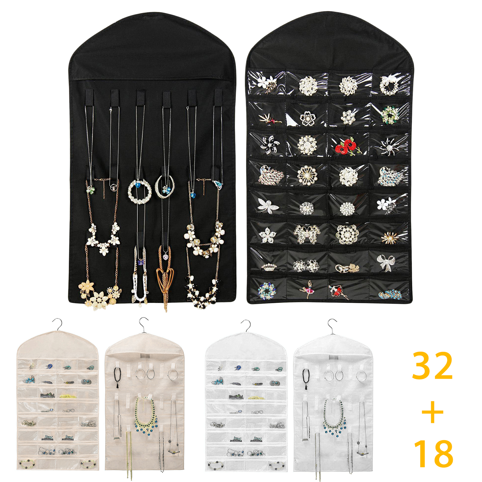 Jewelry Cabinet Armoire Necklace Chest Stand Organizer Displ