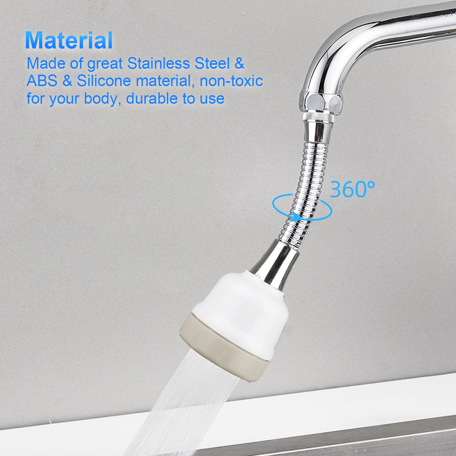 Details About Faucet Filter Extender Spray Shower Head Water Tap Home Kitchen Tool 360 Rotary