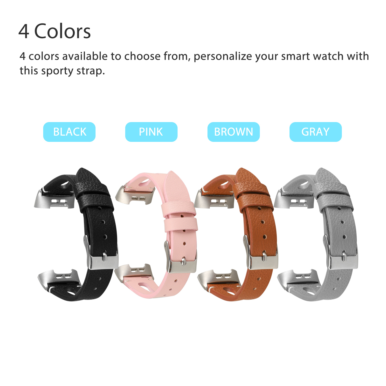 For-Fitbit-Charge-3-Replacement-Wrist-Bands-Smart-Watch-Bracelet-Band-Leather thumbnail 2