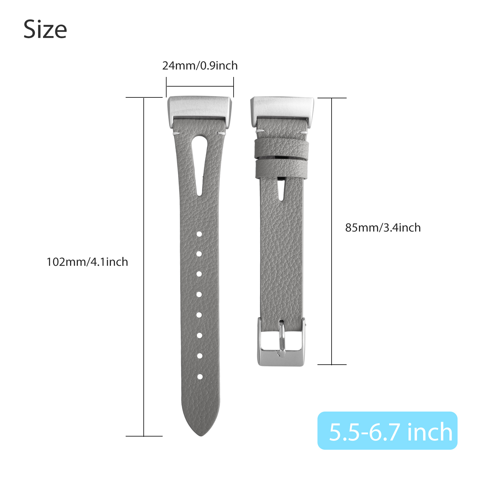 For-Fitbit-Charge-3-Replacement-Wrist-Bands-Smart-Watch-Bracelet-Band-Leather thumbnail 8