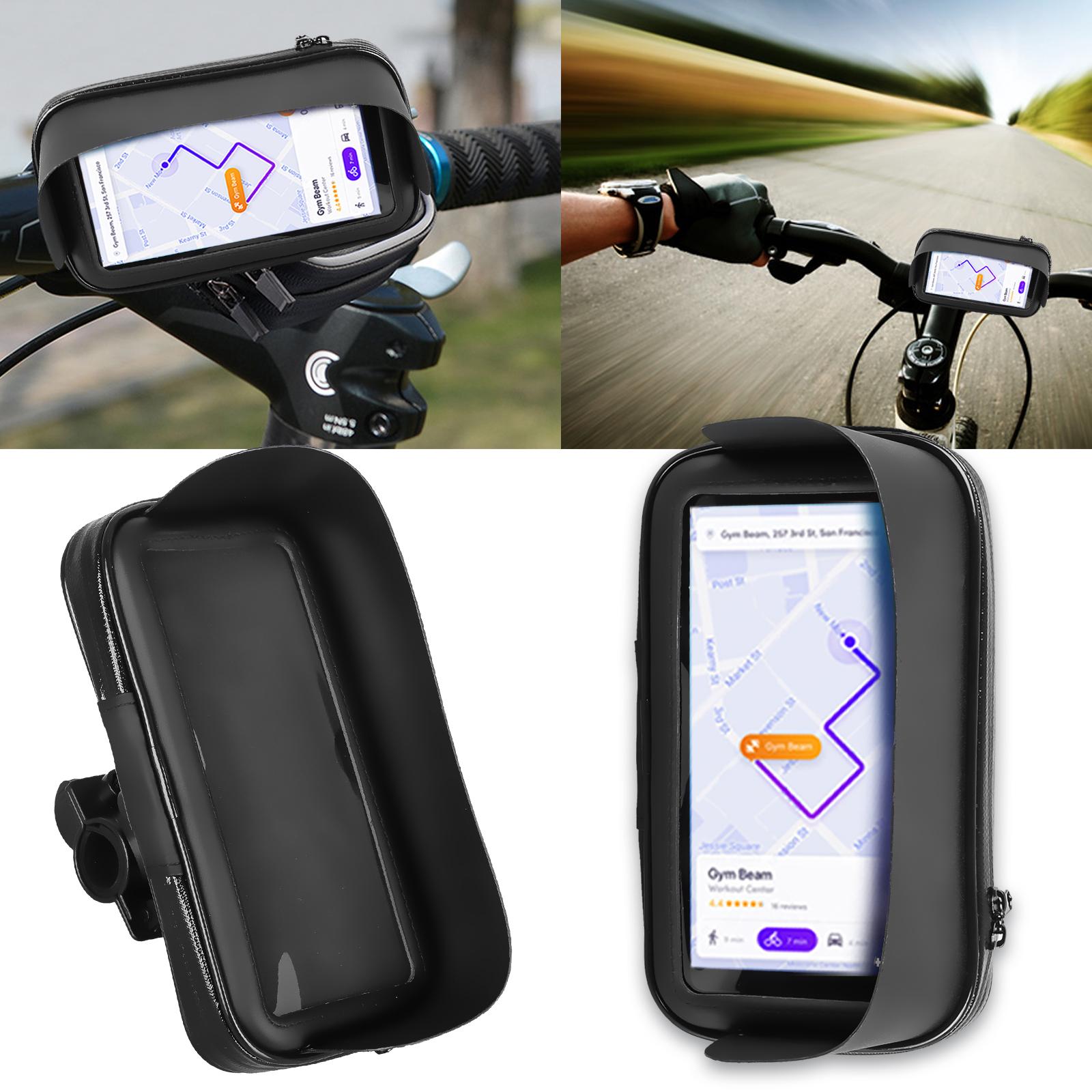 Motorcycle Bike Handlebar Holder Mount + Waterproof Bag Case