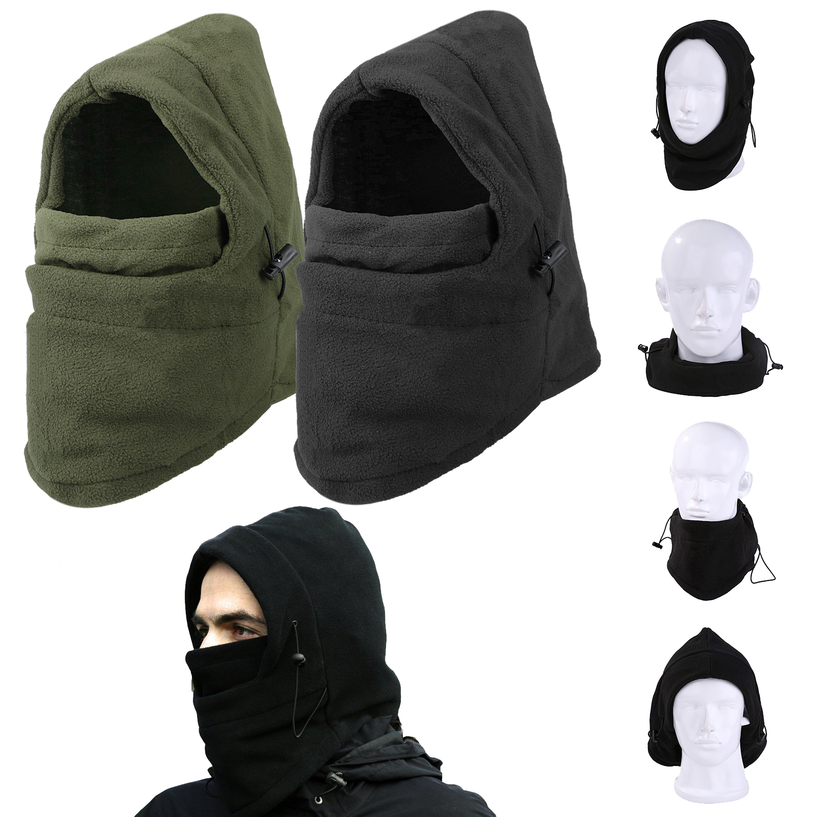 Image is loading Cold-Weather-Windproof-Thermal-Fleece-Neck-Warm-Balaclava- 43a831aeb99